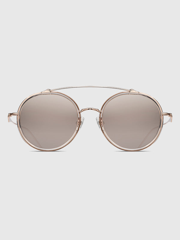 Matsuda Rose Gold and Brown Silver Gradient Sunglasses - 10 Corso Como New York