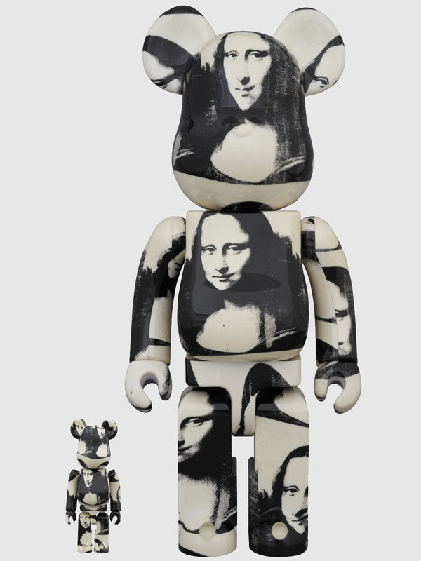 Be@Rbrick Andy Warhol Double Mona Lisa 100% and 400% Figures - 10 Corso Como New York