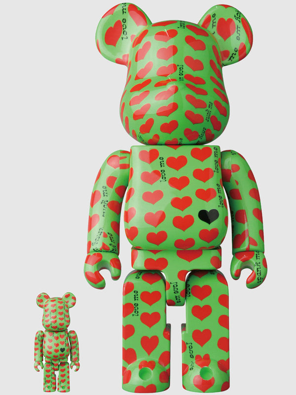 BE@RBRICK Green Heart 100% and 400% Figures - 10 Corso Como New York