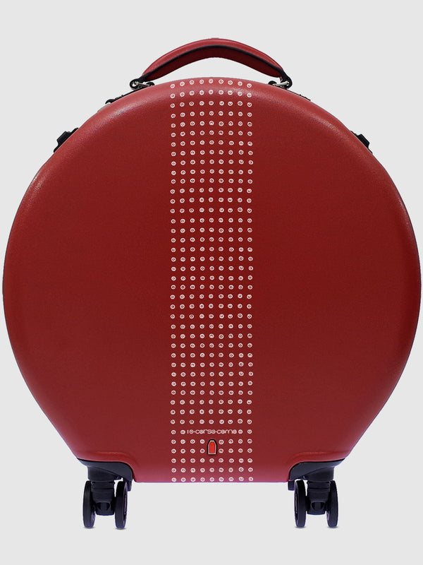 Red Round Rolling Luggage