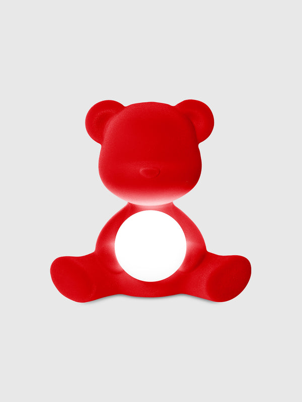 Teddy Girl Rechargeable Lamp Red Velvet Finish - 10 Corso Como New York