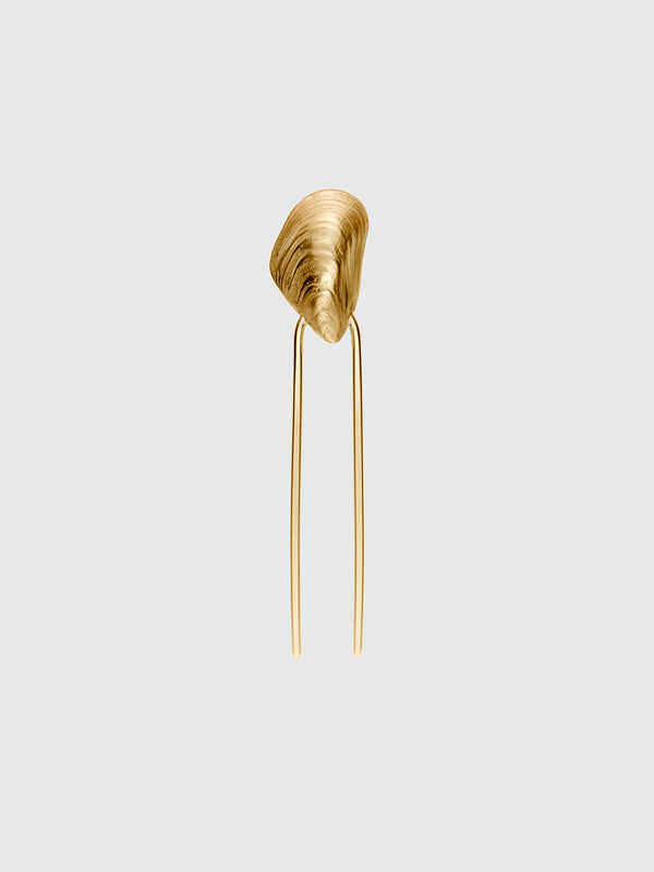 Grace Perle Gold Shell Hair Slide - 10 Corso Como New York