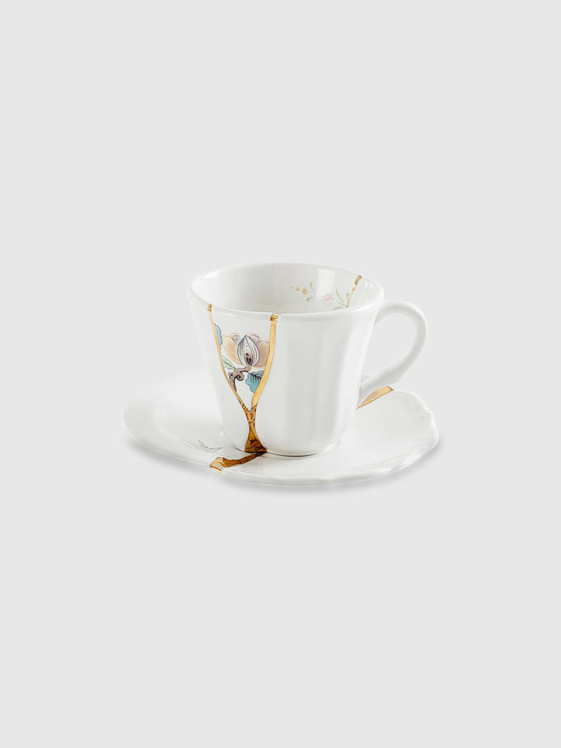 Floral Kintsugi Coffee Cup with Saucer - 10 Corso Como New York