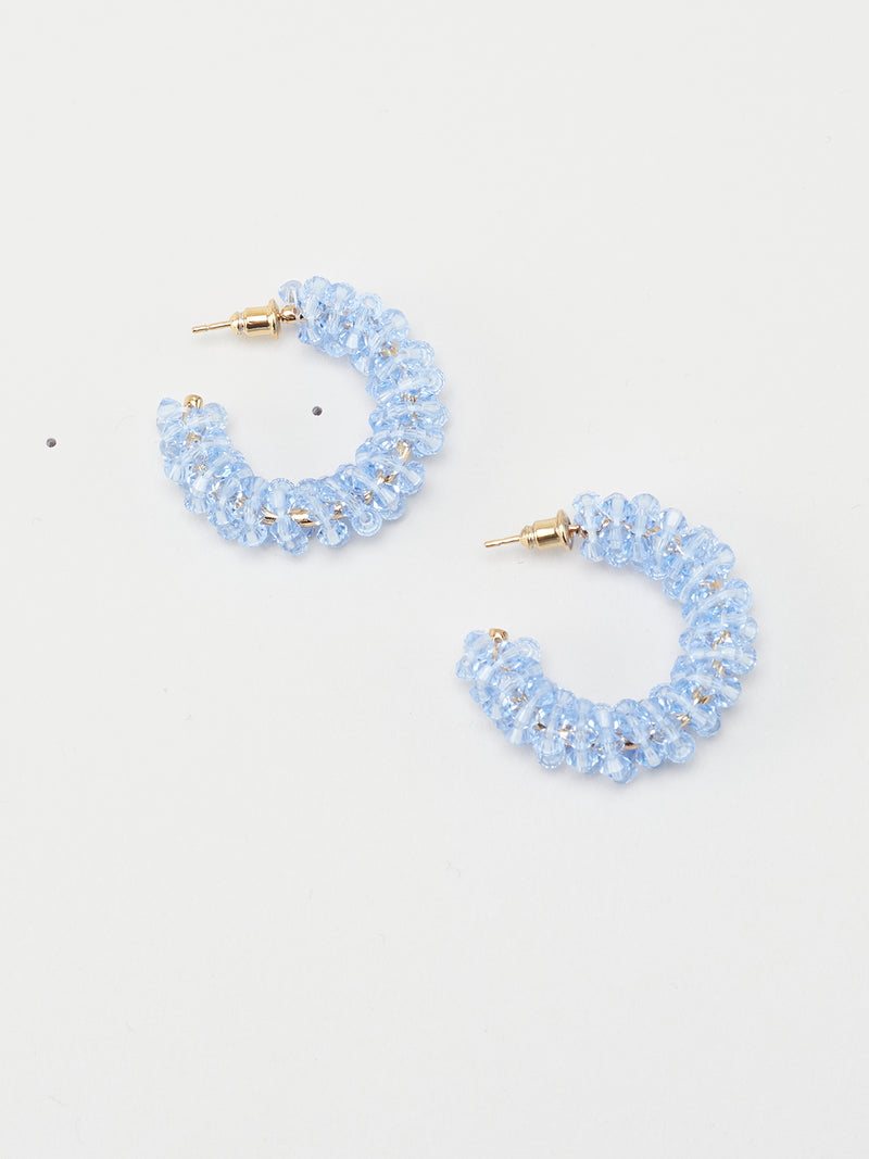 Small Beaded Hoops  Light Blue - 10 Corso Como New York