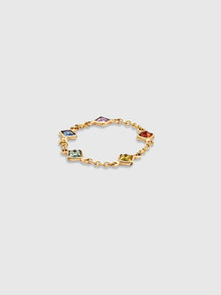Sapphire Rainbow Chain Ring - 10 Corso Como New York