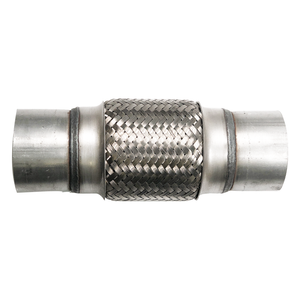 """2.5/"""" X 8/"""" STAINLESS STEEL DOUBLE BRAIDED 6.4/"""" FLEX PIPE CONNECTOR//ADAPTOR PIPING"""