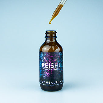 Spagyric Reishi Mushroom Extract by Best Health Co Exposed Dropper