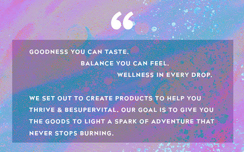 Goodness you can taste, Balance & Wellness you can feel.
