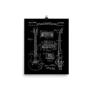 1955 LP Patent Print in White/Black - shop.AxeDr.com - Best Band T-Shirts, Vintage Rock and Roll T Shirts, Metal Band T-Shirts, Punk T Shirts - [product_type]