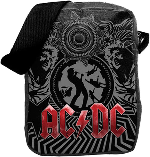 AC/DC Black Ice Crossbody Bag - shop.AxeDr.com - Best Band T-Shirts, Vintage Rock and Roll T Shirts, Metal Band T-Shirts, Punk T Shirts - Messenger Bags