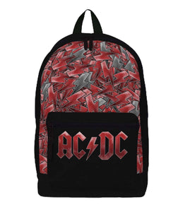 AC/DC Logo All-Over Print Classic Backpack - shop.AxeDr.com - Best Band T-Shirts, Vintage Rock and Roll T Shirts, Metal Band T-Shirts, Punk T Shirts - Backpacks