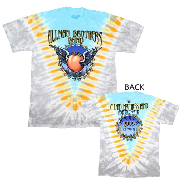 Allman Brothers Flying Peach V-Dye T-Shirt - shop.AxeDr.com - Best Band T-Shirts, Vintage Rock and Roll T Shirts, Metal Band T-Shirts, Punk T Shirts - Men's T-Shirts