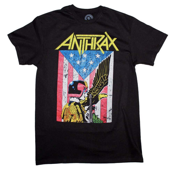 Anthrax Dredd Eagle T-Shirt - shop.AxeDr.com - Best Band T-Shirts, Vintage Rock and Roll T Shirts, Metal Band T-Shirts, Punk T Shirts - Men's T-Shirts