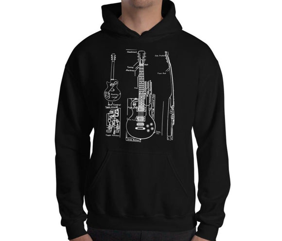 Axe Blueprint Unisex Hoodie - shop.AxeDr.com - Best Band T-Shirts, Vintage Rock and Roll T Shirts, Metal Band T-Shirts, Punk T Shirts - [product_type]
