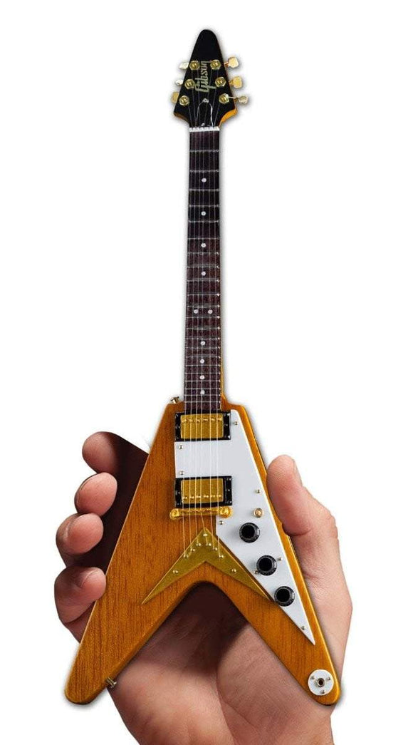 Axe Heaven Gibson 1958 Korina Flying V Mini Guitar Collectible - shop.AxeDr.com - Best Band T-Shirts, Vintage Rock and Roll T Shirts, Metal Band T-Shirts, Punk T Shirts - 413