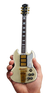 Axe Heaven Gibson 1964 SG Custom White Mini Guitar Collectible - shop.AxeDr.com - Best Band T-Shirts, Vintage Rock and Roll T Shirts, Metal Band T-Shirts, Punk T Shirts - 413