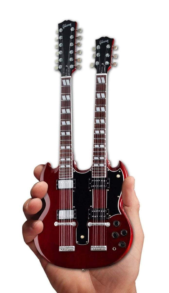 Axe Heaven Gibson SG EDS-1275 Doubleneck Cherry Mini Guitar Collectible - shop.AxeDr.com - Best Band T-Shirts, Vintage Rock and Roll T Shirts, Metal Band T-Shirts, Punk T Shirts - 413