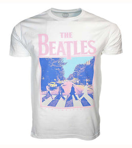 Beatles 50th Anniversary Abbey Road White T-Shirt - shop.AxeDr.com - Best Band T-Shirts, Vintage Rock and Roll T Shirts, Metal Band T-Shirts, Punk T Shirts - Men's T-Shirts