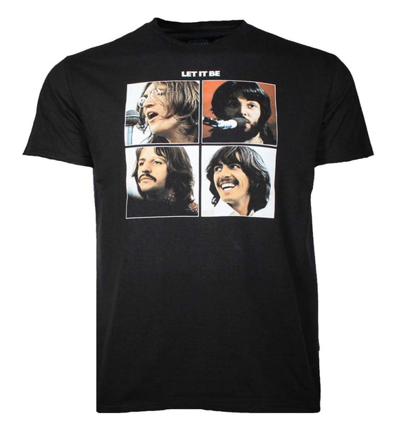 Beatles Let It Be Black T-Shirt - shop.AxeDr.com - Best Band T-Shirts, Vintage Rock and Roll T Shirts, Metal Band T-Shirts, Punk T Shirts - Men's T-Shirts