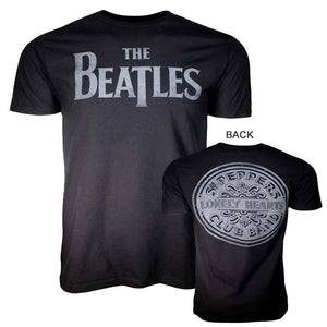 Beatles Lonely Hearts Black T-Shirt - shop.AxeDr.com - Best Band T-Shirts, Vintage Rock and Roll T Shirts, Metal Band T-Shirts, Punk T Shirts - Men's T-Shirts