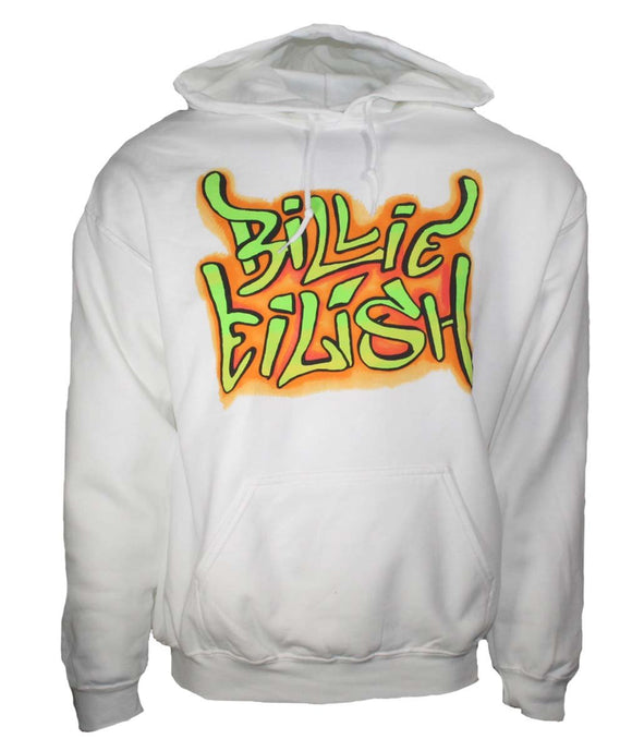 Billie Eilish Grafitti Hoodie Sweatshirt - shop.AxeDr.com - Best Band T-Shirts, Vintage Rock and Roll T Shirts, Metal Band T-Shirts, Punk T Shirts - Men's T-Shirts