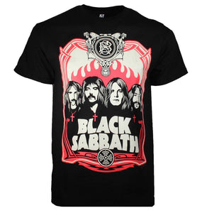 Black Sabbath Red Flames T-Shirt - shop.AxeDr.com - Best Band T-Shirts, Vintage Rock and Roll T Shirts, Metal Band T-Shirts, Punk T Shirts - Men's T-Shirts