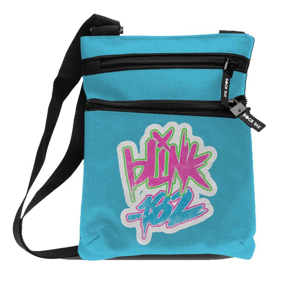Blink 182 Logo Blue Body Bag - shop.AxeDr.com - Best Band T-Shirts, Vintage Rock and Roll T Shirts, Metal Band T-Shirts, Punk T Shirts - Messenger Bags