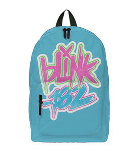 Blink 182 Logo Blue Classic Backpack - shop.AxeDr.com - Best Band T-Shirts, Vintage Rock and Roll T Shirts, Metal Band T-Shirts, Punk T Shirts - Backpacks