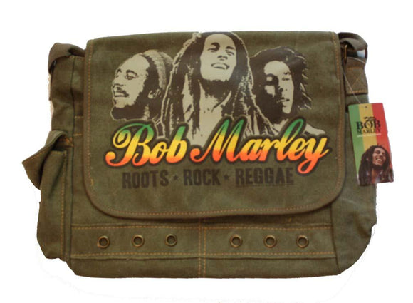 Bob Marley Roots Rock Reggae Messenger Bag - shop.AxeDr.com - Best Band T-Shirts, Vintage Rock and Roll T Shirts, Metal Band T-Shirts, Punk T Shirts - Messenger Bags