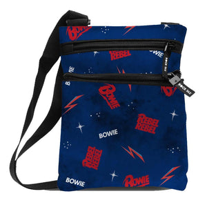 David Bowie Galaxy Body Bag - shop.AxeDr.com - Best Band T-Shirts, Vintage Rock and Roll T Shirts, Metal Band T-Shirts, Punk T Shirts - Messenger Bags
