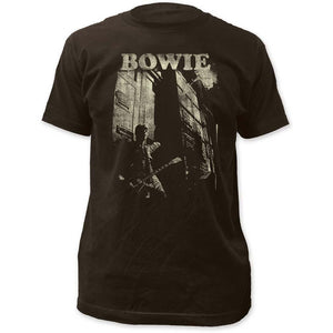 David Bowie Guitar Fitted Jersey T-Shirt - shop.AxeDr.com - Best Band T-Shirts, Vintage Rock and Roll T Shirts, Metal Band T-Shirts, Punk T Shirts - Men's T-Shirts