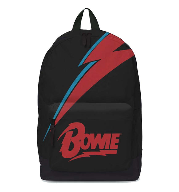 David Bowie Lightning Classic Backpack - shop.AxeDr.com - Best Band T-Shirts, Vintage Rock and Roll T Shirts, Metal Band T-Shirts, Punk T Shirts - Backpacks