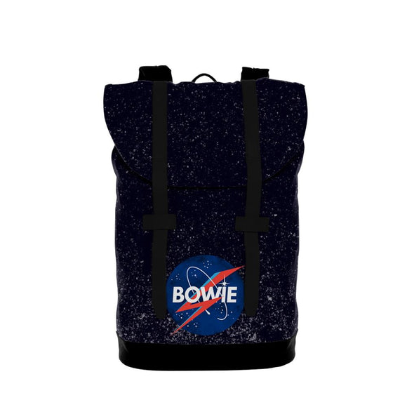 David Bowie Space Heritage Backpack - shop.AxeDr.com - Best Band T-Shirts, Vintage Rock and Roll T Shirts, Metal Band T-Shirts, Punk T Shirts - Backpacks