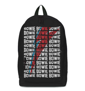 David Bowie Warped Classic Backpack - shop.AxeDr.com - Best Band T-Shirts, Vintage Rock and Roll T Shirts, Metal Band T-Shirts, Punk T Shirts - Backpacks