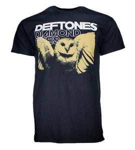 Deftones Sepia Owl T-Shirt - shop.AxeDr.com - Best Band T-Shirts, Vintage Rock and Roll T Shirts, Metal Band T-Shirts, Punk T Shirts - Men's T-Shirts