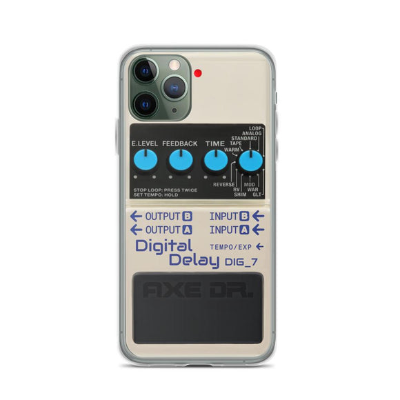 Digital Delay Pedal Guitar FX Pedal iPhone Case - shop.AxeDr.com - Best Band T-Shirts, Vintage Rock and Roll T Shirts, Metal Band T-Shirts, Punk T Shirts - [product_type]