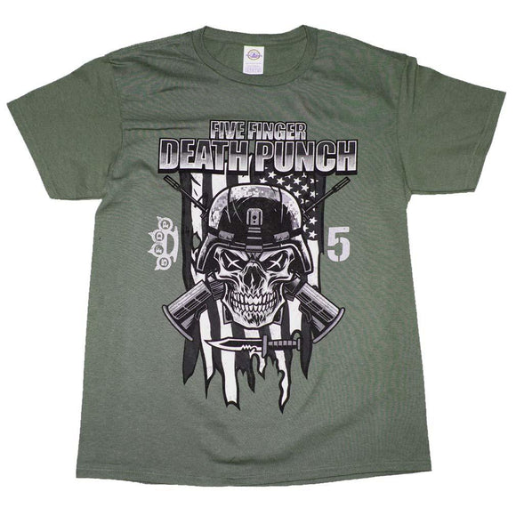 Five Finger Death Punch Infantry Special Forces T-Shirt - shop.AxeDr.com - Best Band T-Shirts, Vintage Rock and Roll T Shirts, Metal Band T-Shirts, Punk T Shirts - Men's T-Shirts