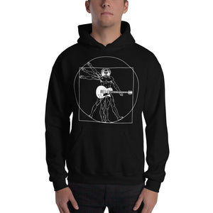 "Funny Guitar Hoodie ""DaVinci Man & Guitar"" by Axe Dr. Apparel - shop.AxeDr.com - Best Band T-Shirts, Vintage Rock and Roll T Shirts, Metal Band T-Shirts, Punk T Shirts - [product_type]"