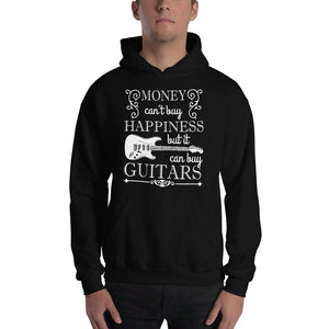 "Funny Guitar Hoodie ""Money Can't Buy Happiness, but..."" by Axe Dr. Apparel - shop.AxeDr.com - Best Band T-Shirts, Vintage Rock and Roll T Shirts, Metal Band T-Shirts, Punk T Shirts - [product_type]"