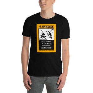 "Funny Guitar T-Shirt ""Hands Off My Guitar"" by Axe Dr. Apparel - shop.AxeDr.com - Best Band T-Shirts, Vintage Rock and Roll T Shirts, Metal Band T-Shirts, Punk T Shirts - [product_type]"