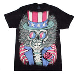 Grateful Dead Subway Patriotic Skelly T-Shirt - shop.AxeDr.com - Best Band T-Shirts, Vintage Rock and Roll T Shirts, Metal Band T-Shirts, Punk T Shirts - Men's T-Shirts