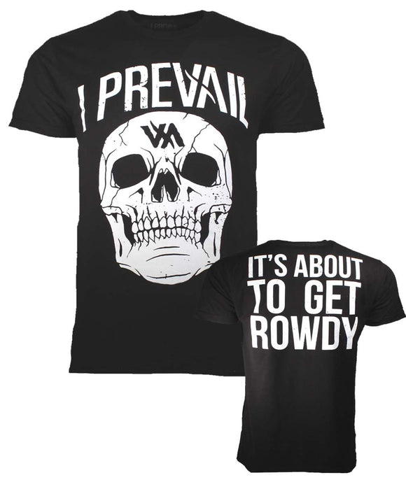 I Prevail Large Rowdy Skull T-Shirt - shop.AxeDr.com - Best Band T-Shirts, Vintage Rock and Roll T Shirts, Metal Band T-Shirts, Punk T Shirts - Men's T-Shirts