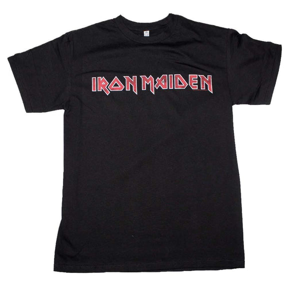 Iron Maiden Distressed Logo T-Shirt - shop.AxeDr.com - Best Band T-Shirts, Vintage Rock and Roll T Shirts, Metal Band T-Shirts, Punk T Shirts - Men's T-Shirts