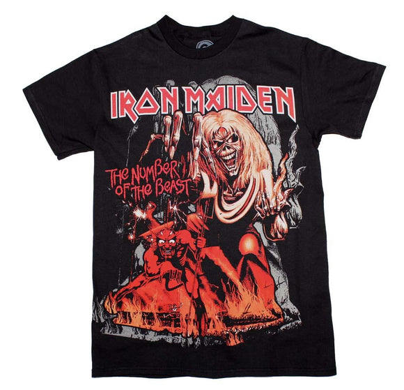 Iron Maiden Number of the Beast T-Shirt - shop.AxeDr.com - Best Band T-Shirts, Vintage Rock and Roll T Shirts, Metal Band T-Shirts, Punk T Shirts - Men's T-Shirts