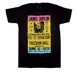 Janis Joplin Freedom Hall Poster T-Shirt - shop.AxeDr.com - Best Band T-Shirts, Vintage Rock and Roll T Shirts, Metal Band T-Shirts, Punk T Shirts - Men's T-Shirts