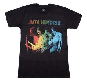 Jimi Hendrix Rainbow T-Shirt - shop.AxeDr.com - Best Band T-Shirts, Vintage Rock and Roll T Shirts, Metal Band T-Shirts, Punk T Shirts - Men's T-Shirts