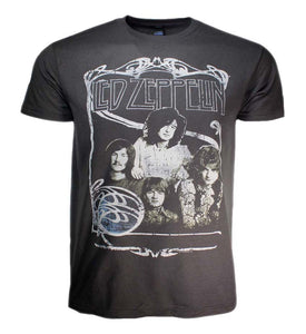 Led Zeppelin 1969 Band Promo Photo T-Shirt - shop.AxeDr.com - Best Band T-Shirts, Vintage Rock and Roll T Shirts, Metal Band T-Shirts, Punk T Shirts - Men's T-Shirts