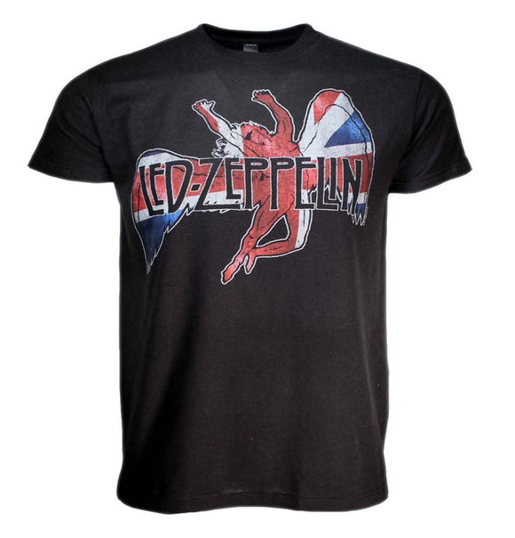 Led Zeppelin Icarus Flag T-Shirt - shop.AxeDr.com - Best Band T-Shirts, Vintage Rock and Roll T Shirts, Metal Band T-Shirts, Punk T Shirts - Men's T-Shirts