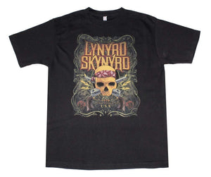 Lynyrd Skynyrd Skull With Gun T-Shirt - shop.AxeDr.com - Best Band T-Shirts, Vintage Rock and Roll T Shirts, Metal Band T-Shirts, Punk T Shirts - Men's T-Shirts