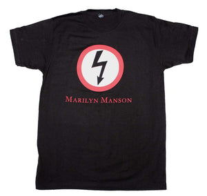 Marilyn Manson Classic Bolt T-Shirt - shop.AxeDr.com - Best Band T-Shirts, Vintage Rock and Roll T Shirts, Metal Band T-Shirts, Punk T Shirts - Men's T-Shirts